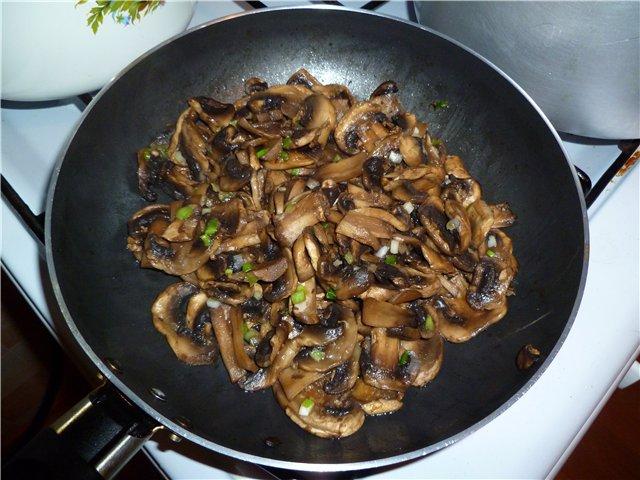 Рецепт Курица с грибами и ананасами