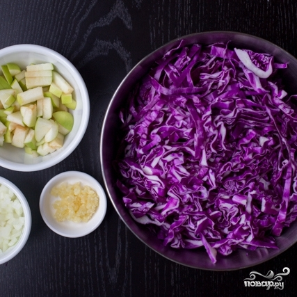 Рецепт Тушеная красная капуста