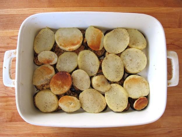Мусака овощная запеченная - фото шаг 6
