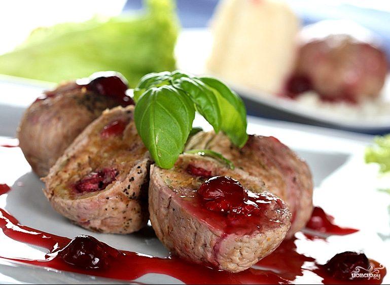 Рецепт Мясо с вишней
