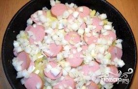 Картофельная запеканка с сардельками - фото шаг 3