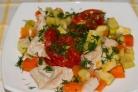 Индейка в пароварке с овощами