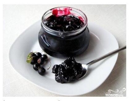 Рецепт Черная смородина, протертая с сахаром