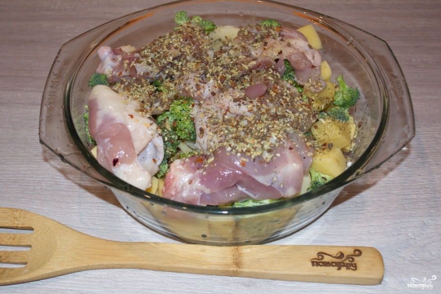 Запеканка с брокколи и курицей - фото шаг 4