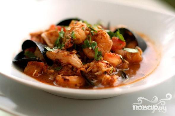 Рецепт Рыбный суп Буйабес (Bouillabaisse)