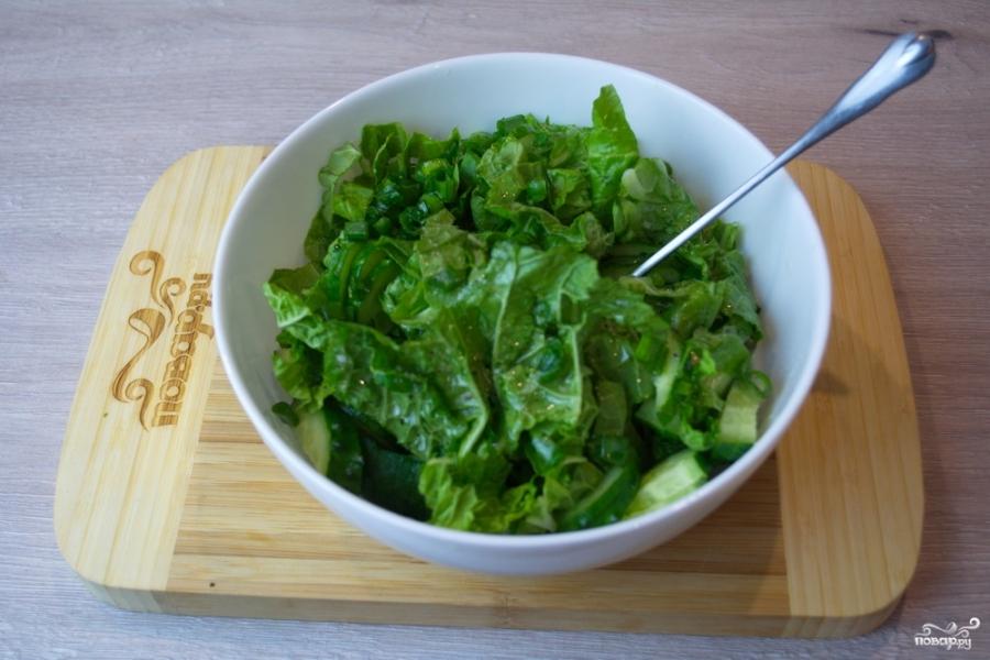 Диетический салат с пекинской капустой - фото шаг 6
