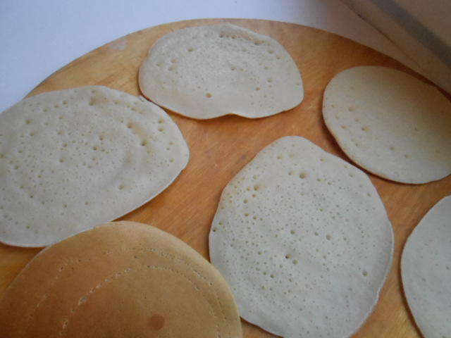 Блинчики с грибами и сыром - фото шаг 5
