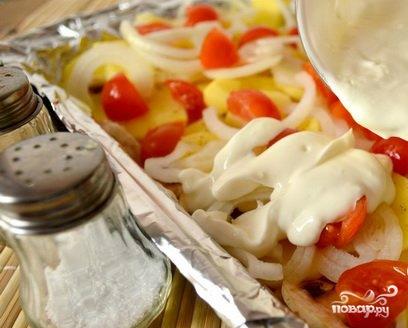 Запеченная картошка с шампиньонами и сыром - фото шаг 4