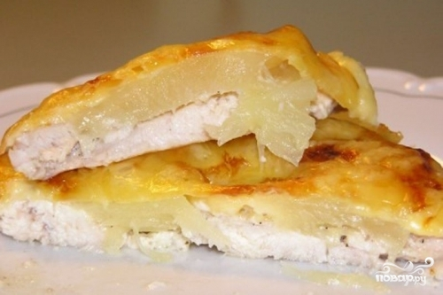 картошка с филе курицы в духовке рецепт с фото