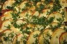 Картофель запеченный под майонезом