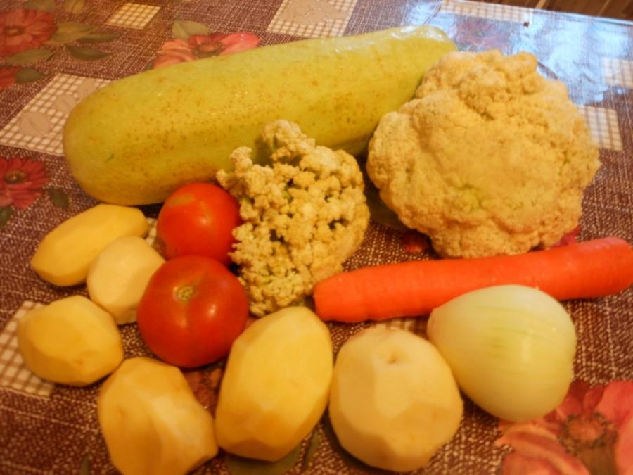 Рецепт Рагу с цветной капустой и картошкой