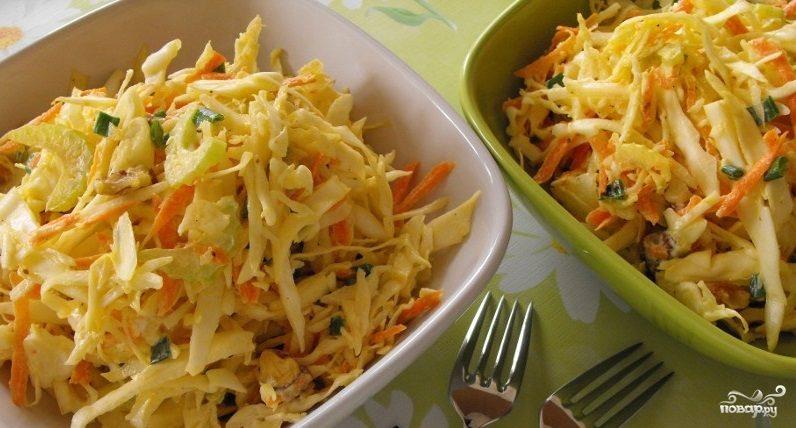 Салат с сельдереем и капустой