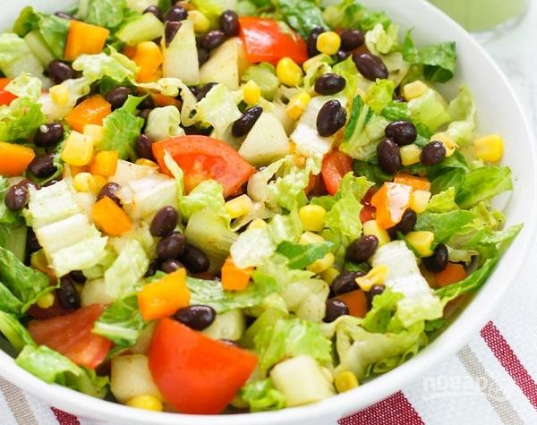 Быстрые салаты овощные рецепты с