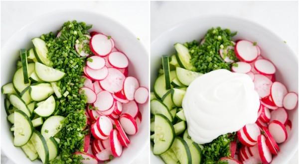 Салат огуречный с редиской - фото шаг 3