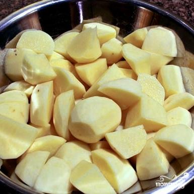 Рецепт Сырная запеканка с мясом и картофелем