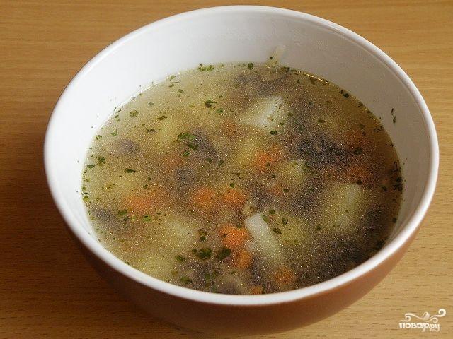 Суп с шампиньонами в мультиварке