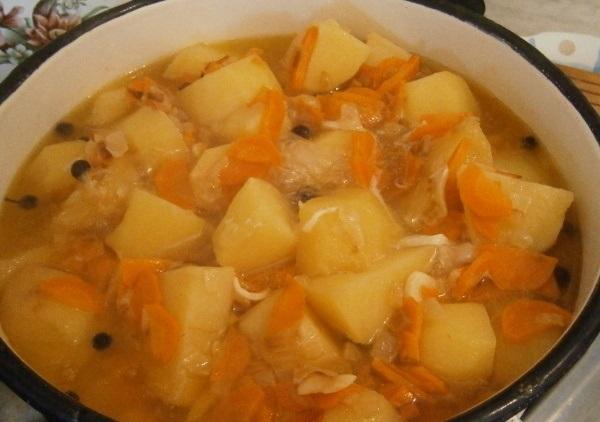 Картофельный соус с курицей - фото шаг 7