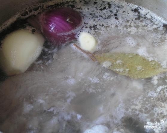Суп со свининой и гречкой - фото шаг 1