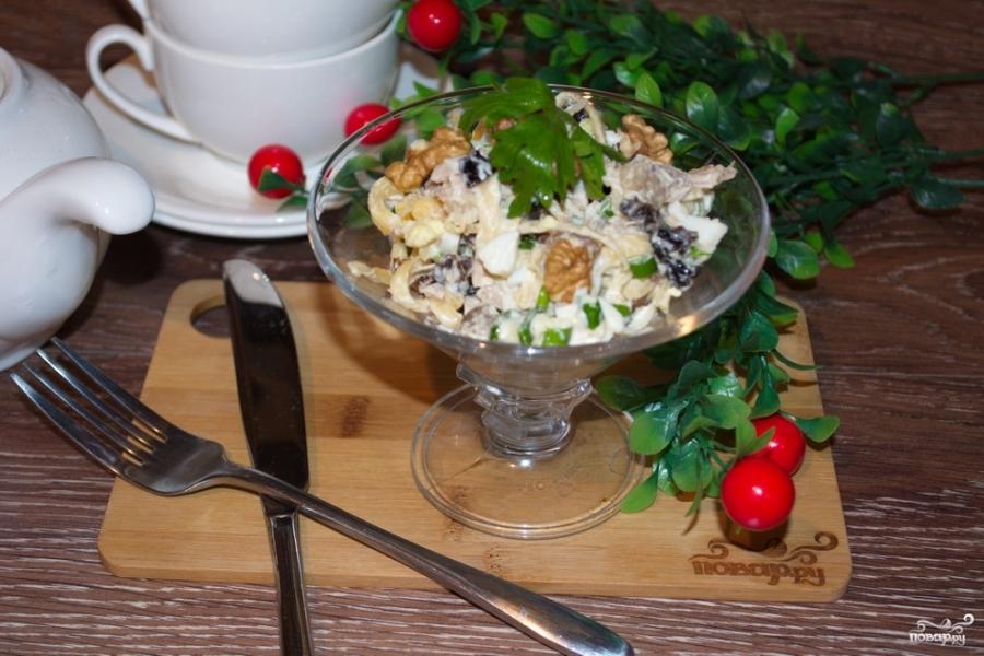 Салат с курицей и черносливом - фото шаг 7