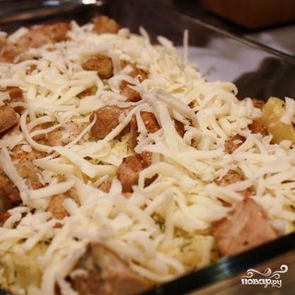 Запеканка с мясным фаршем и картошкой в духовке рецепт с фото