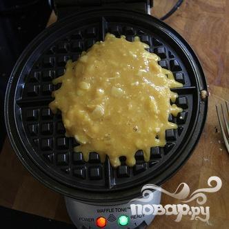 Кокосовые вафли со взбитыми сливками - фото шаг 4