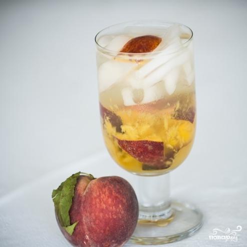 Персиковый коктейль - фото шаг 5