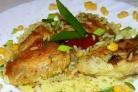 Куриные крылышки с рисом