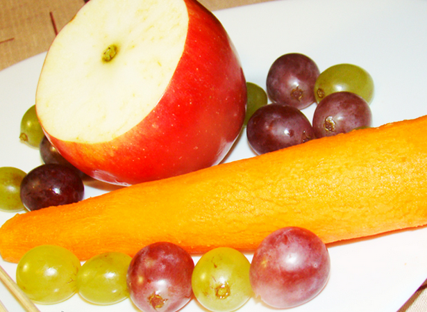Елочка из фруктов - фото шаг 2