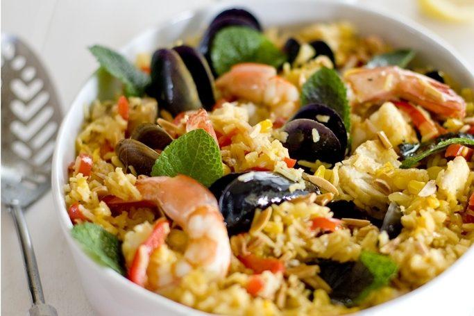Рецепт Плов с морепродуктами в мультиварке