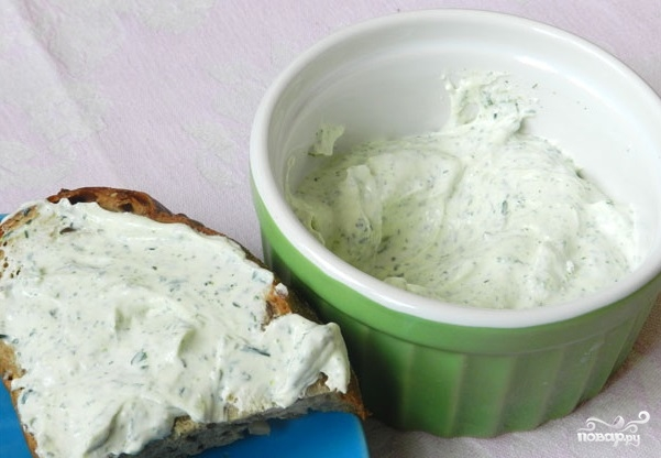 Рецепт Творожный сыр с зеленью
