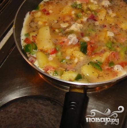 Фритатта с овощами и картофелем - фото шаг 4
