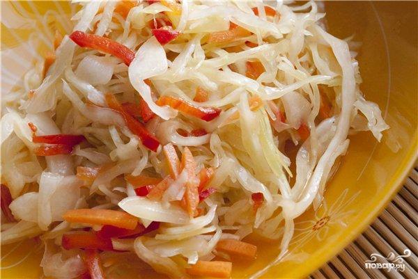 Рецепт Салат из белокочанной капусты