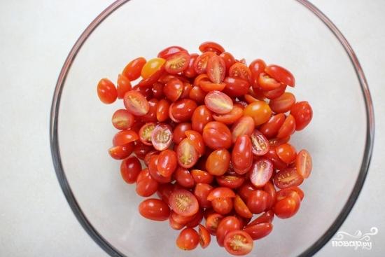 Рецепт Cалат из помидоров со сметаной