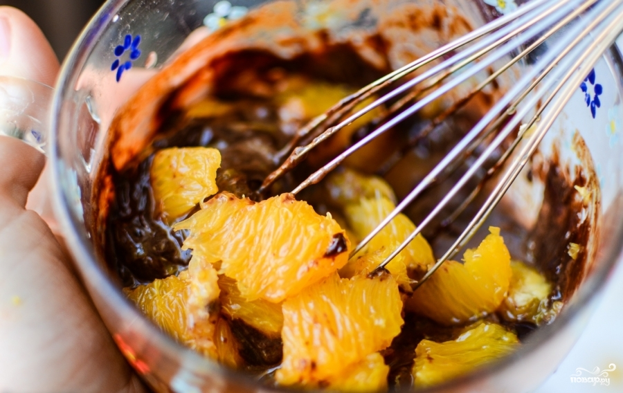 Апельсиново-шоколадный десерт - фото шаг 5