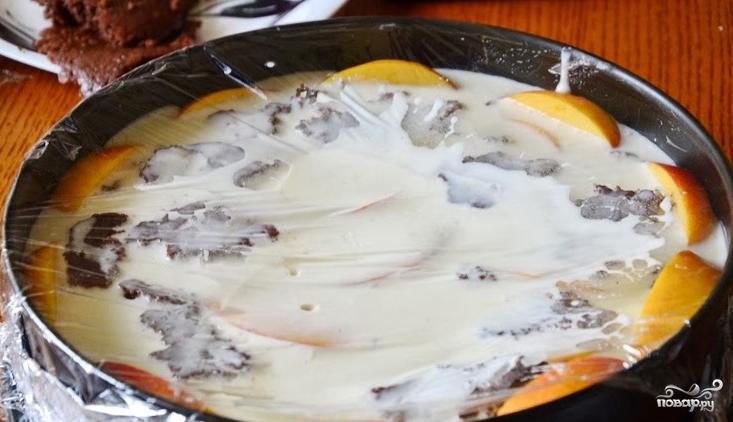 Персиковый торт-суфле - фото шаг 11