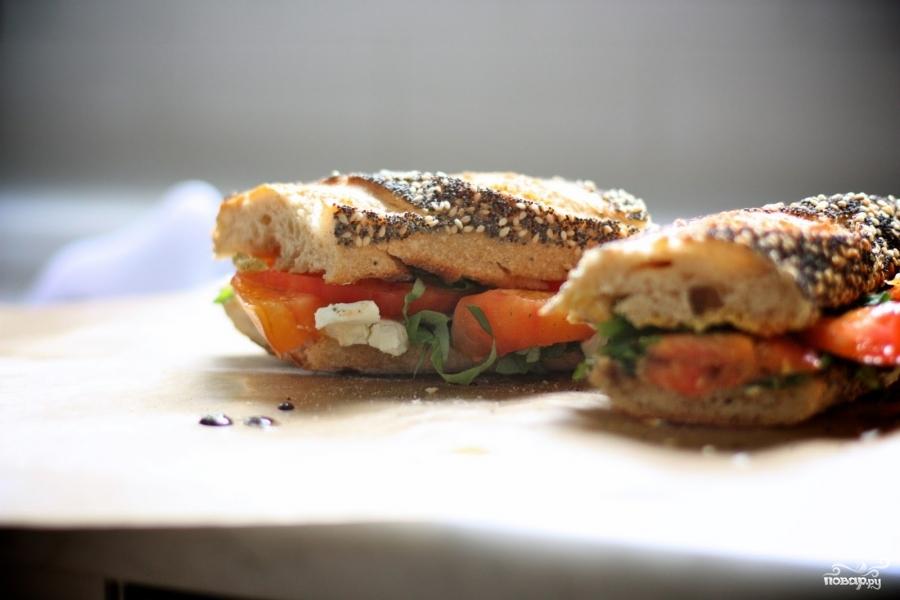 Сэндвичи с помидорами - фото шаг 7