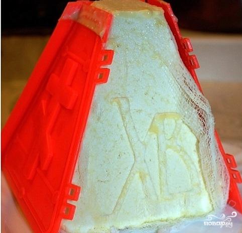 Пасха из молока - фото шаг 10