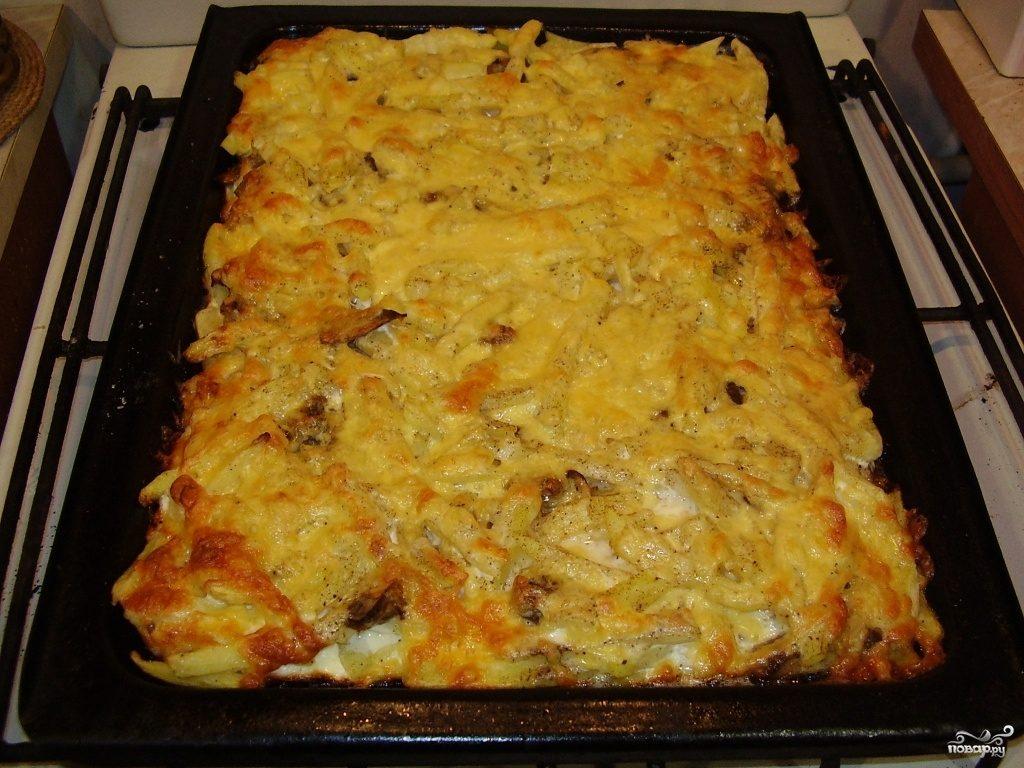 Рецепт Картофель с опятами в духовке
