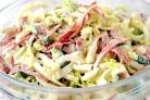 Салат из капусты и копченой колбасы