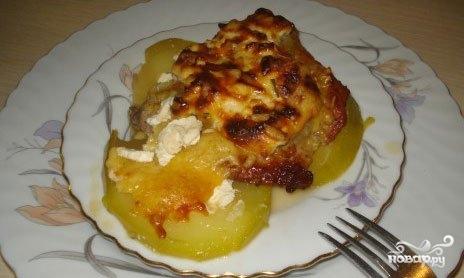 картошка свинина кабачок в духовке рецепт с фото