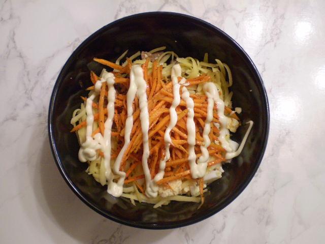 Вкусный салат с корейской морковкой - фото шаг 4