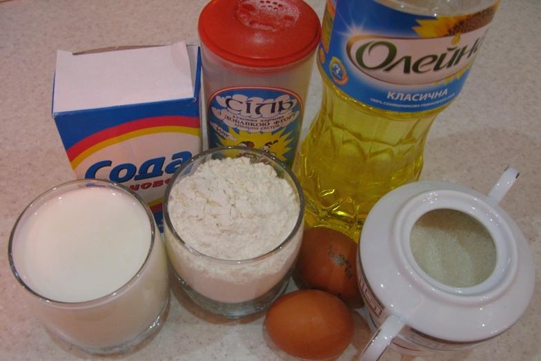 Рецепт Блины на молоке и кефире