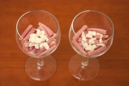 Салат-коктейль с ветчиной - фото шаг 6
