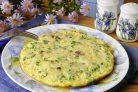 Омлет с ветчиной, грибами и сыром