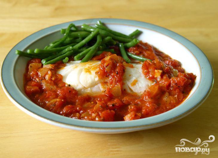 Треска в томатном соусе - фото шаг 2
