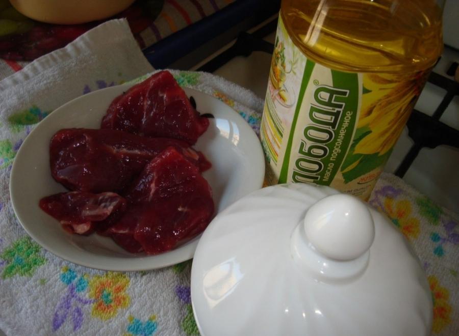 Рецепт Говядина, жареная в мультиварке