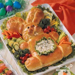 Пасхальный хлеб Заяц - фото шаг 3