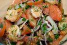 Салат из кальмара и креветок