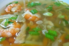 Суп из семги с креветками