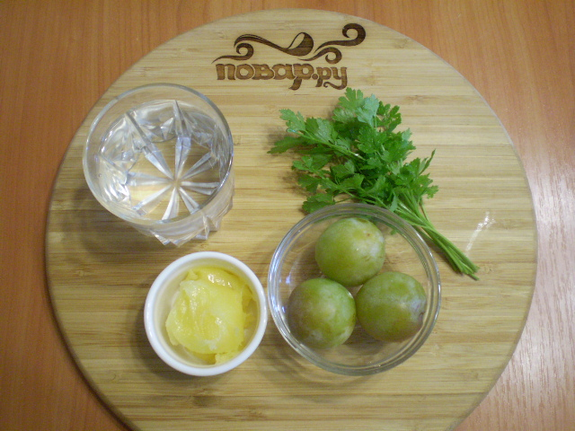 Зеленый коктейль со сливой - фото шаг 1